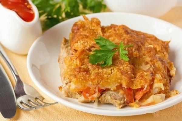 Recipe turkey fillet, inihurnong sa ilalim ng isang